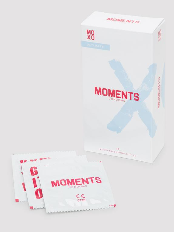 Moments Ultimate Ribbed and Dotted Vegan Latex Condoms (10 Pack), , hi-res