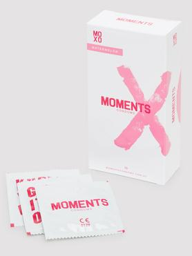 Moments Watermelon Flavoured Vegan Latex Condoms (10 Pack)