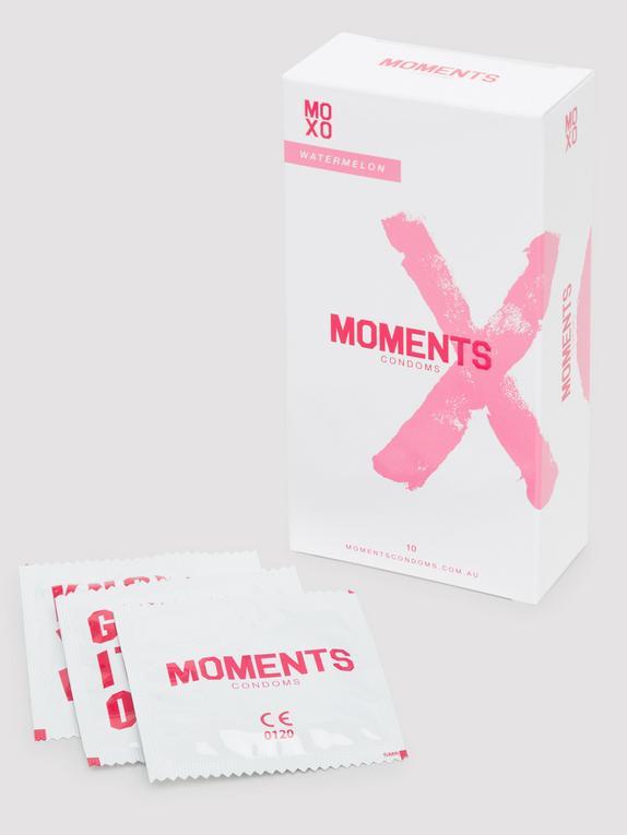Moments Watermelon Flavoured Vegan Latex Condoms (10 Pack), , hi-res