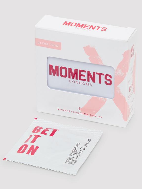 Moments Ultra-Thin Vegan Latex Condoms (3 Pack), , hi-res