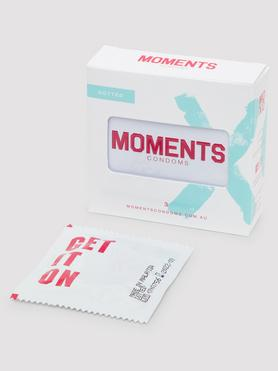 Moments Dotted Vegan Latex Condoms (3 Pack)