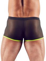 Svenjoyment Black Mesh and Neon Green Boxer Shorts , Black, hi-res