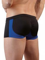 Svenjoyment gepolsterte gesäßhebende Boxershorts (schwarz-blau), Schwarz, hi-res