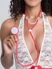 Lovehoney Doctor's Costume Stethoscope, Red, hi-res