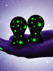 Pompes à tétons silicone fluorescentes Lucky Stars, Lovehoney, Fluorescent, hi-res