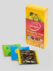 Ansell Lifestyles Party Mix Condoms (10 Pack), , hi-res