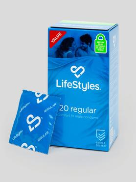 Ansell LifeStyles Regular Condoms (20 Pack)