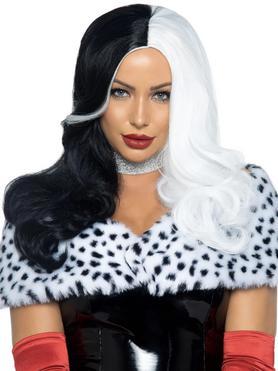 Leg Avenue Black And White Wig
