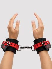 Kink by Doc Johnson Silicone Hand Cuffs, Black, hi-res