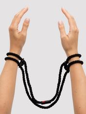 Kink by Doc Johnson Hemp Hog Tie Cuffs, Black, hi-res