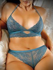 Fantasy Blue Lace Bralette Set, Blue, hi-res