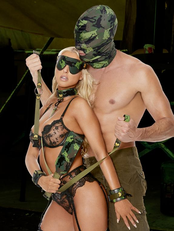 Ouch! Army Bondage Kit (9 Piece), Green, hi-res