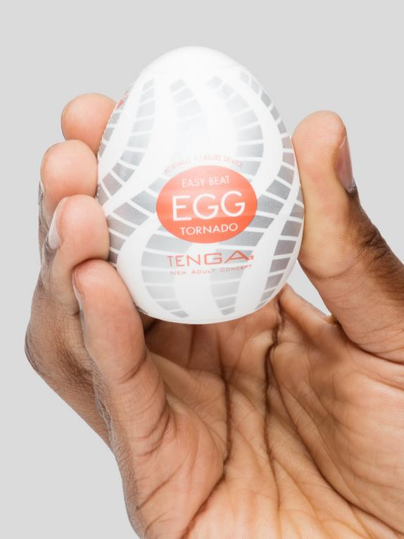 TENGA Egg Tornado Textured Male Masturbator , Clear, hi-res
