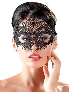 Cottelli Black Masquerade Lace Mask