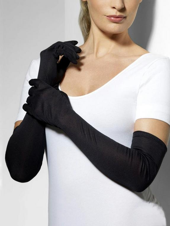 Fever Elbow Length Gloves, Black, hi-res