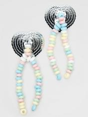 Sequin Candy Nipple Tassels, , hi-res