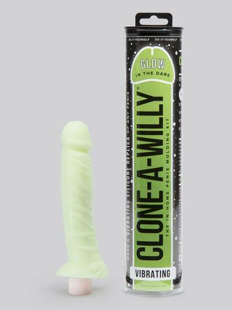 Clone-A-Willy Glow In The Dark Vibrator Molding Kit Green