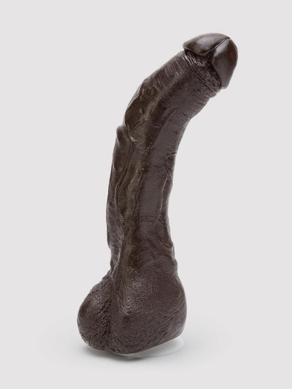 Doc Johnson Black Thunder Realistic Vac-U-Lock Dildo 9 Inch, Flesh Brown, hi-res