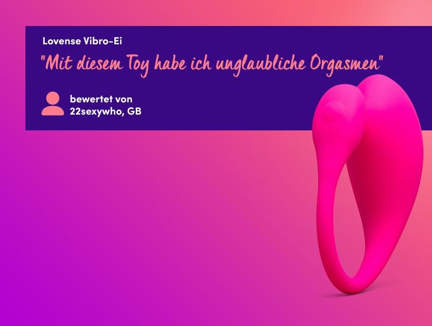 Entdecken Sie ferngesteuerte Sex-Spielchen - Lovense Vibro-Ei