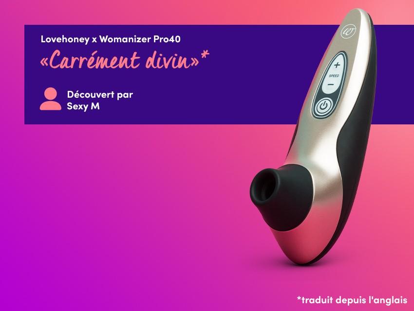 Découvrez un plaisir universel - Lovehoney x Womanizer Pro40