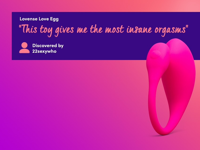 "Discover long-distance playtime with the Lovense Love Egg - ""This toy gives me the most insane orgasms"" discovered by 22sexywho"