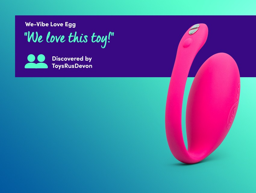 "Discover app-controlled fun with the we-vibe jive love egg - ""We love this toy!"" discovered by ToysRusDevon"
