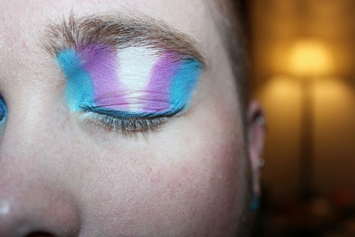transgender pride eye makeup - kyle william urban
